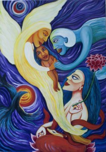 Angels and White Tara Inspirational Painting by Gallery of Dreams & Colours
