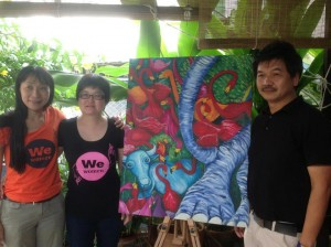 Chiang Mai magical journey - painting by Li Li Tan sold to Singapore clients