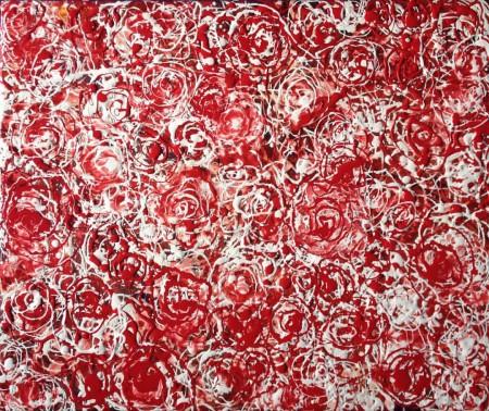 Abstract Roses painting by artist Li Li Tan (Tan Li Li)