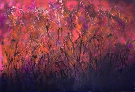 'Twilight Dance' abstract art by Li Li Tan (also known as Tan Li Li), artist